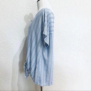 Anthropologie Tops - Anthropologie W5 Blue White Stripe Tie Front Top